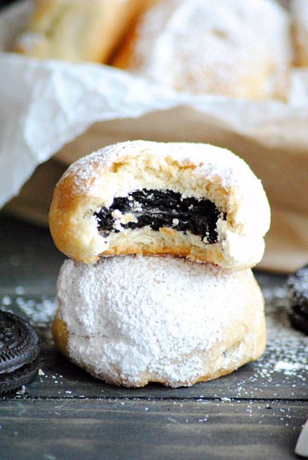 Best Crescent Roll Recipes - Baked Deep Fried Oreos - Easy Homemade Dinner Recipe Ideas With Cresent Rolls, Breakfast, Snack, Appetizers and Dessert - With Chicken and Ground Beef, Hot Dogs, Pizza, Garlic Taco, Sweet Desserts - DIY Projects and Crafts by DIY JOY http://diyjoy.com/crescent-roll-recipes