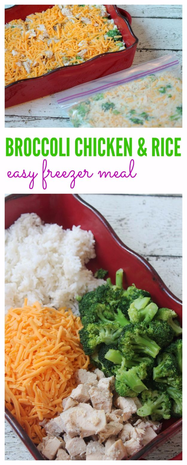 37 healthy crockpot recipes you can prep and freeze ahead of time healthy crockpot recipes to make and freeze ahead cheesy broccoli chicken rice recipe freezer forumfinder Gallery