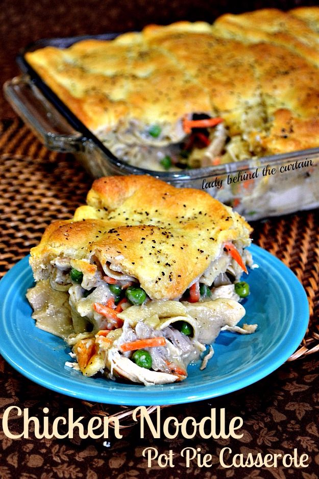 Healthy Crockpot Recipes to Make and Freeze Ahead - Chicken Noodle Pot Pie Casserole - Easy and Quick Dinners, Soups, Sides You Make Put In The Freezer for Simple Last Minute Cooking - Low Fat Chicken, Veggies, Stews, Vegetable Sides and Beef Meals for Your Slow Cooker and Crock Pot http://diyjoy.com/healthy-crockpot-recipes