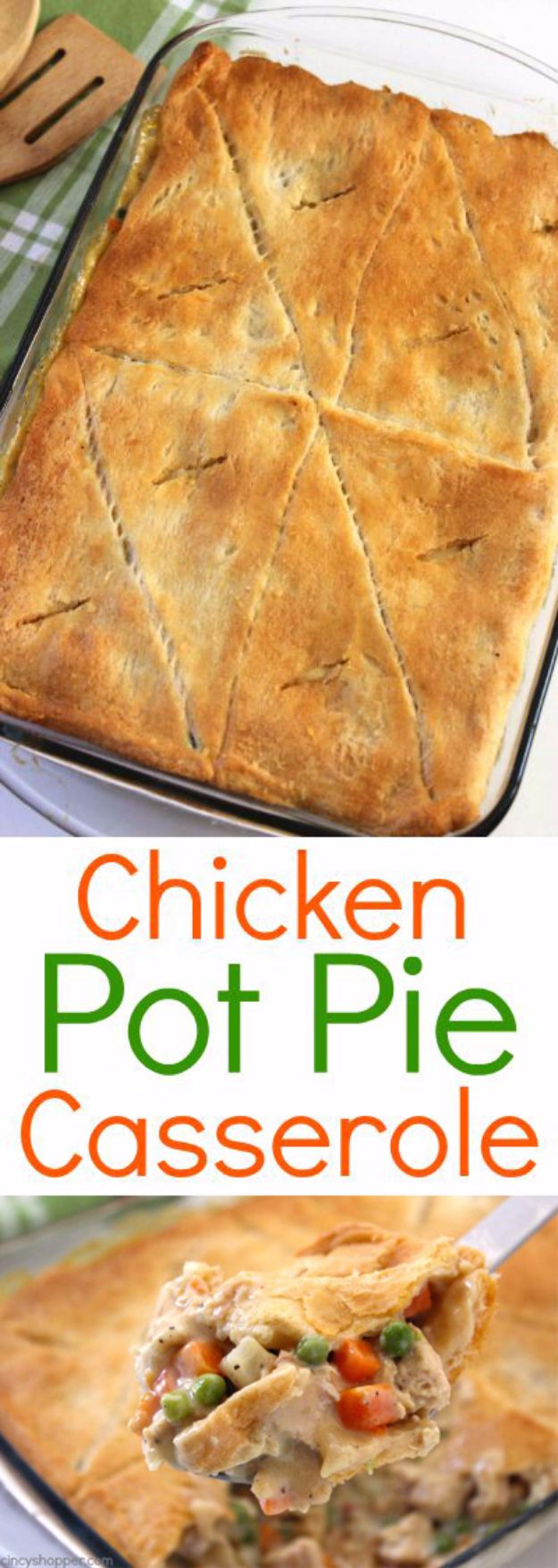 Best Crescent Roll Recipes - Chicken Pot Pie Casserole - Easy Homemade Dinner Recipe Ideas With Cresent Rolls, Breakfast, Snack, Appetizers and Dessert - With Chicken and Ground Beef, Hot Dogs, Pizza, Garlic Taco, Sweet Desserts #recipes