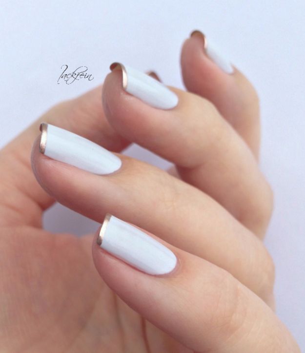 Quick Nail Art Ideas - Chrome Tips - Easy Step by Step Nail Designs With Tutorials and Instructions - Simple Photos Show You How To Get A Perfect Manicure at Home - Cool Beauty Tips and Tricks for Women and Teens