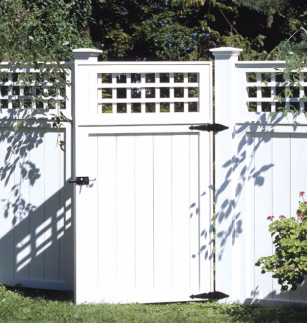 DIY Fences and Gates - Classic Backyard Fence - How To Make Easy Fence and Gate Project for Backyard and Home - Step by Step Tutorial and Ideas for Painting, Updating and Making Fences and DIY Gate - Cool Outdoors and Yard Projects http://diyjoy.com/diy-fences- gates