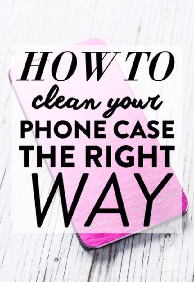 DIY Phone Hacks - Clean Your Phone Case The Right Way - Cool Tips and Tricks for Phones, Headphones and iPhone How To - Make Speakers, Change Settings, Know Secrets You Can Do With Your Phone By Learning This Cool Stuff - DIY Projects and Crafts for Men and Women http://diyjoy.com/diy-iphone-hacks