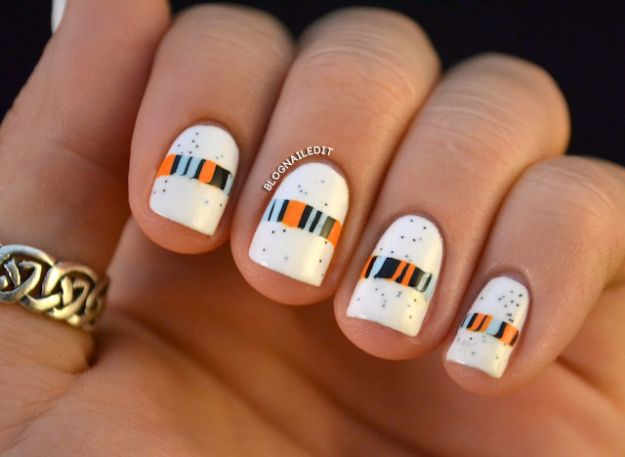 Quick Nail Art Ideas - Cookie Crisp Lines - Easy Step by Step Nail Designs With Tutorials and Instructions - Simple Photos Show You How To Get A Perfect Manicure at Home - Cool Beauty Tips and Tricks for Women and Teens