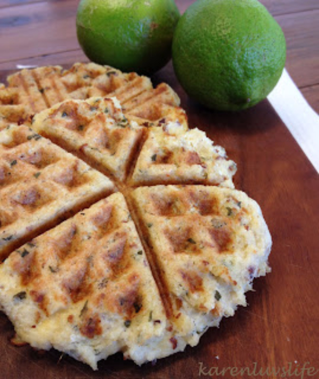 Waffle Iron Hacks and Easy Recipes for Waffle Irons - Crab Cake Waffle - Quick Ways to Make Healthy Meals in a Waffle Maker - Breakfast, Dinner, Lunch, Dessert and Snack Ideas - Homemade Pizza, Cinnamon Rolls, Egg, Low Carb, Sandwich, Bisquick, Savory Recipes and Biscuits http://diyjoy.com/waffle-iron-hacks-recipes