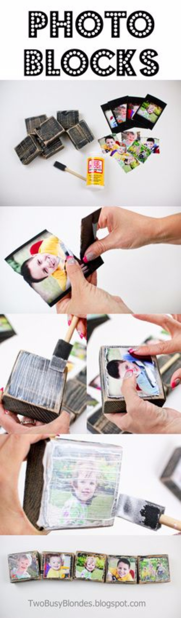 DIY Photo Crafts and Projects for Pictures - Creative Photo Blocks - Handmade Picture Frame Ideas and Step by Step Tutorials for Making Cool DIY Gifts and Home Decor - Cheap and Easy Photo Frames, Creative Ways to Frame and Mount Photos on Canvas and Display Them In Your House http://diyjoy.com/handmade-photo-crafts