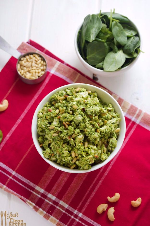 Healthy Crockpot Recipes to Make and Freeze Ahead - Crock Pot Pesto Chicken Salad - Easy and Quick Dinners, Soups, Sides You Make Put In The Freezer for Simple Last Minute Cooking - Low Fat Chicken, beef stew recipe