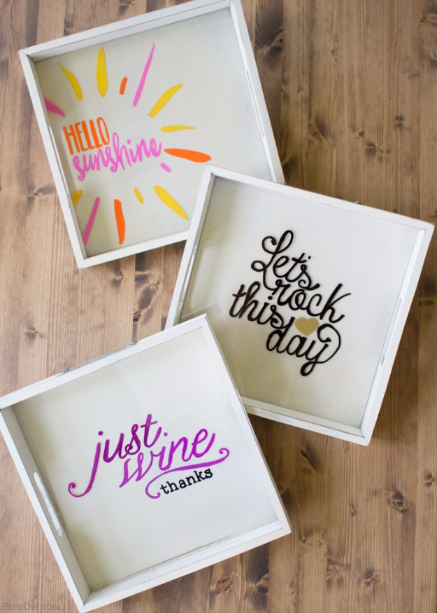 DIY Sharpie Crafts - Custom Wine And Tray Glasses - Cool and Easy Craft Projects and DIY Ideas Using Sharpies - Use Markers To Decorate and Design Home Decor, Cool Homemade Gifts, T-Shirts, Shoes and Wall Art. Creative Project Tutorials for Teens, Kids and Adults http://diyjoy.com/diy-sharpie-crafts