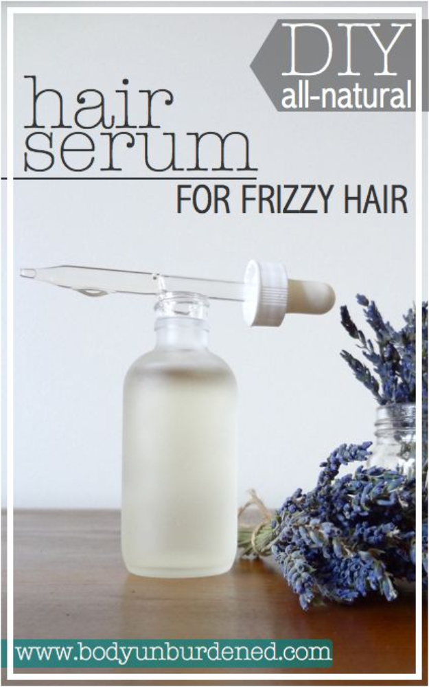 DIY Beauty Ideas and Recipes for Products You Can Make At Home - DIY All-Natural Hair Serum For Frizzy Hair - Easy Tutorials and Recipe Ideas for Face, Skin, Hair, Makeup, Lips - 3 Ingredient, Coconut Oil, Cheap Knock Offs, Baking Soda and Natural Product - Cool Homemade Gifts for Teens and Women