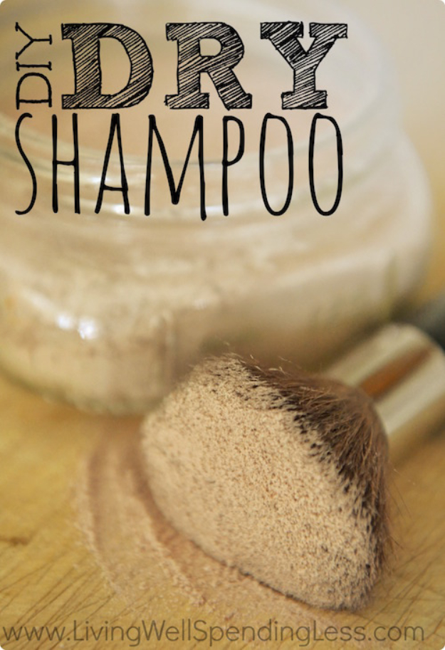 DIY Beauty Ideas and Recipes for Products You Can Make At Home - DIY Dry Shampoo - Easy Tutorials and Recipe Ideas for Face, Skin, Hair, Makeup, Lips - 3 Ingredient, Coconut Oil, Cheap Knock Offs, Baking Soda and Natural Product - Cool Homemade Gifts for Teens and Women