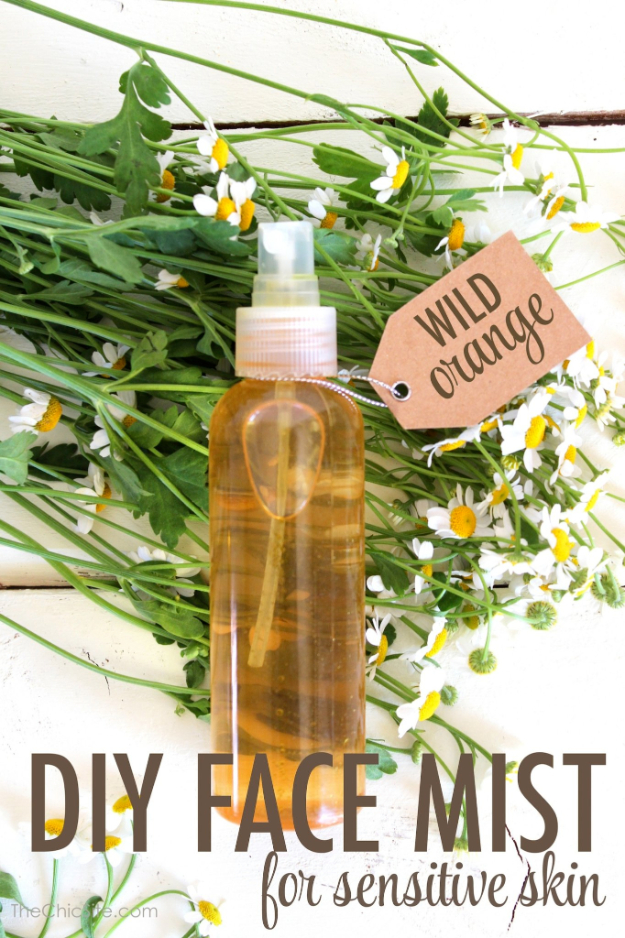 DIY Beauty Ideas and Recipes for Products You Can Make At Home - DIY Face Mist For Sensitive Skin - Easy Tutorials and Recipe Ideas for Face, Skin, Hair, Makeup, Lips - 3 Ingredient, Coconut Oil, Cheap Knock Offs, Baking Soda and Natural Product - Cool Homemade Gifts for Teens and Women