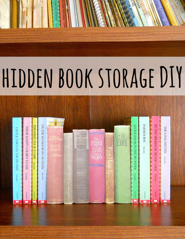 DIY Projects Made With Old Books - DIY Hidden Book Storage - Make DIY Gifts, Crafts and Home Decor With Old Book Pages and Hardcover and Paperbacks - Easy Shelving, Decorations, Wall Art and Centerpices with BOOKS http://diyjoy.com/diy-projects-old-books