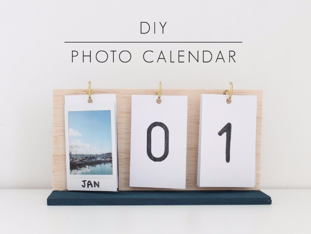 DIY Photo Crafts and Projects for Pictures - DIY Instax Photo Calendar - Handmade Picture Frame Ideas and Step by Step Tutorials for Making Cool DIY Gifts and Home Decor - Cheap and Easy Photo Frames, Creative Ways to Frame and Mount Photos on Canvas and Display Them In Your House