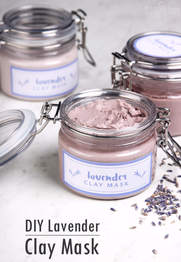 DIY Beauty Ideas and Recipes for Products You Can Make At Home - DIY Lavender Clay Face Mask - Easy Tutorials and Recipe Ideas for Face, Skin, Hair, Makeup, Lips - 3 Ingredient, Coconut Oil, Cheap Knock Offs, Baking Soda and Natural Product - Cool Homemade Gifts for Teens and Women