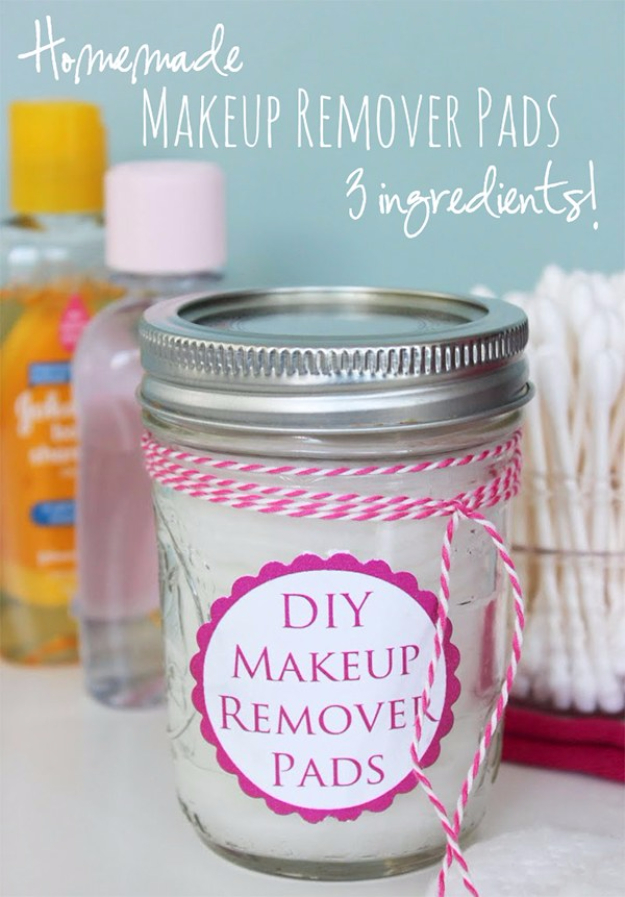 DIY Beauty Ideas and Recipes for Products You Can Make At Home - DIY Make Up Remover Pads - Easy Tutorials and Recipe Ideas for Face, Skin, Hair, Makeup, Lips - 3 Ingredient, Coconut Oil, Cheap Knock Offs, Baking Soda and Natural Product - Cool Homemade Gifts for Teens and Women