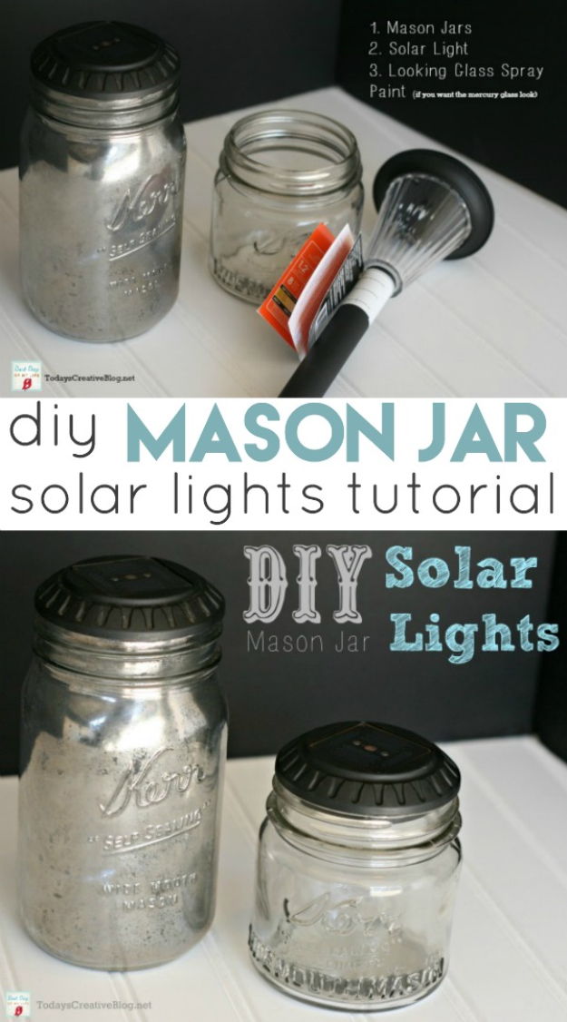 DIY Solar Powered Projects - DIY Mason Jar Solar Lights - Easy Solar Crafts and DYI Ideas for Making Solar Power Things You Can Use To Save Energy - Step by Step Tutorials for Making Things Without Batteries - DIY Projects and Crafts for Men and Women