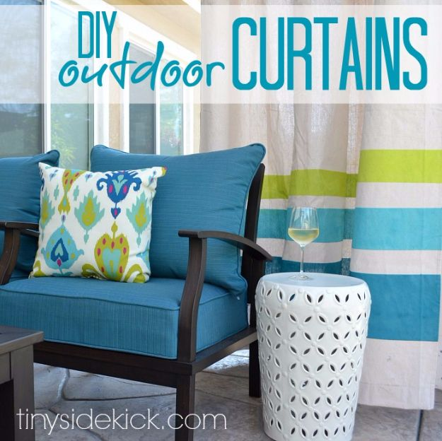 Sewing Projects for The Patio - DIY Outdoor Curtains - Step by Step Instructions and Free Patterns for Cushions, Pillows, Seating, Sofa and Outdoor Patio Decor - Easy Sewing Tutorials for Beginners - Creative and Cheap Outdoor Ideas for Those Who Love to Sew - DIY Projects and Crafts by DIY JOY http://diyjoy.com/sewing-projects-patio