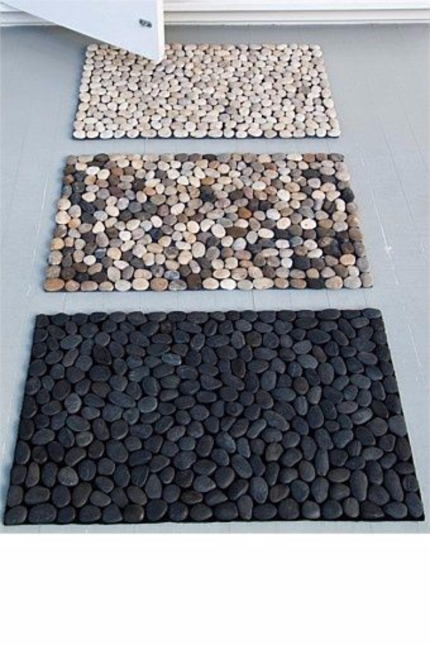 Pebble and Stone Crafts - DIY Pebble Bath Mat - DIY Ideas Using Rocks, Stones and Pebble Art - Mosaics, Craft Projects, Home Decor, Furniture and DIY Gifts You Can Make On A Budget #crafts