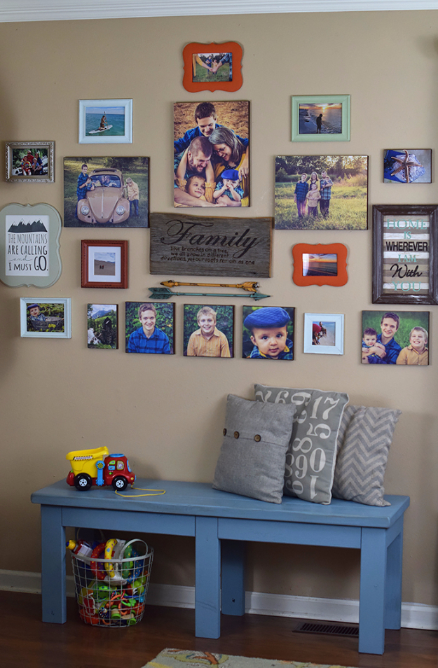 DIY Photo Crafts and Projects for Pictures - DIY Photo Canvas - Handmade Picture Frame Ideas and Step by Step Tutorials for Making Cool DIY Gifts and Home Decor - Cheap and Easy Photo Frames, Creative Ways to Frame and Mount Photos on Canvas and Display Them In Your House http://diyjoy.com/handmade-photo-crafts