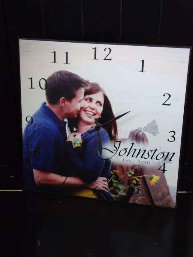 DIY Photo Crafts and Projects for Pictures - DIY Photo Clock - Handmade Picture Frame Ideas and Step by Step Tutorials for Making Cool DIY Gifts and Home Decor - Cheap and Easy Photo Frames, Creative Ways to Frame and Mount Photos on Canvas and Display Them In Your House http://diyjoy.com/handmade-photo-crafts
