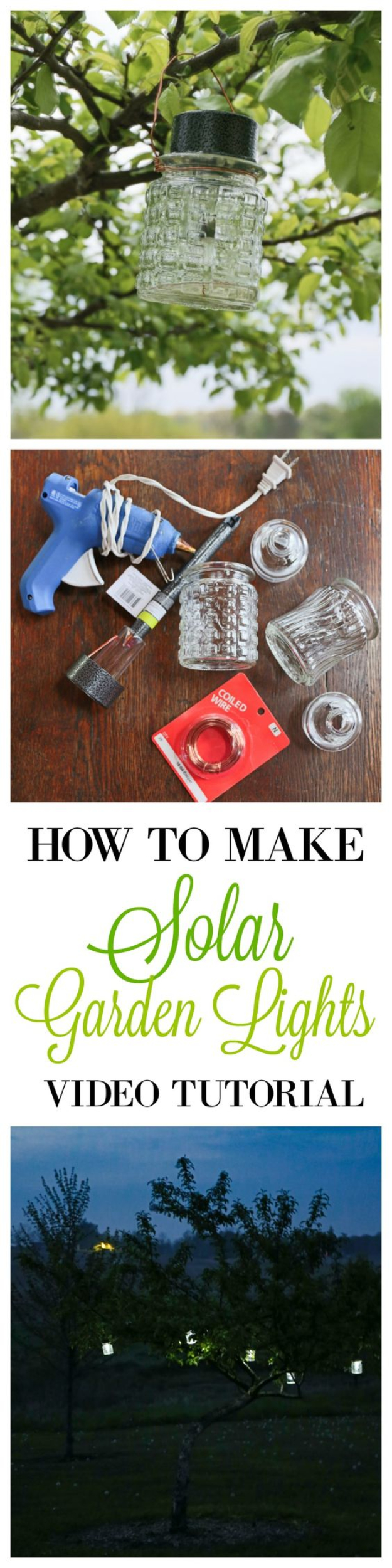 DIY Solar Powered Projects - DIY Solar Garden Lights - Easy Solar Crafts and DYI Ideas for Making Solar Power Things You Can Use To Save Energy - Step by Step Tutorials for Making Things Without Batteries - DIY Projects and Crafts for Men and Women