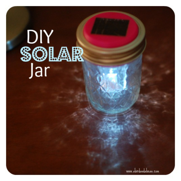 DIY Solar Powered Projects - DIY Solar Jar - Easy Solar Crafts and DYI Ideas for Making Solar Power Things You Can Use To Save Energy - Step by Step Tutorials for Making Things Without Batteries - DIY Projects and Crafts for Men and Women
