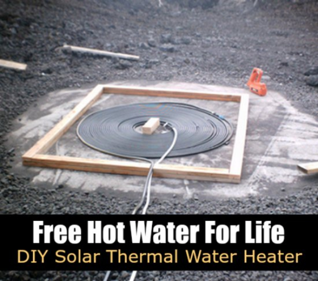 DIY Solar Powered Projects - DIY Solar Thermal Water Heater- Easy Solar Crafts and DYI Ideas for Making Solar Power Things You Can Use To Save Energy - Step by Step Tutorials for Making Things Without Batteries - DIY Projects and Crafts for Men and Women