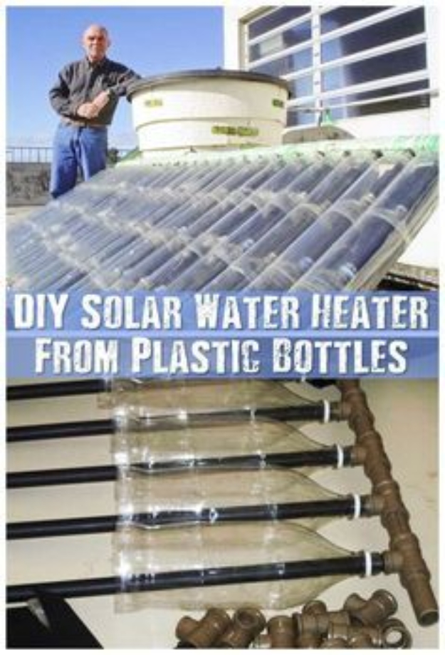 DIY Solar Powered Projects - DIY Solar Water Heater From Plastic Bottles - Easy Solar Crafts and DYI Ideas for Making Solar Power Things You Can Use To Save Energy - Step by Step Tutorials for Making Things Without Batteries - DIY Projects and Crafts for Men and Women