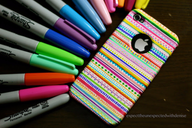 DIY Sharpie Crafts - DIY Tribal Print Iphone Case - Cool and Easy Craft Projects and DIY Ideas Using Sharpies - Use Markers To Decorate and Design Home Decor, Cool Homemade Gifts, T-Shirts, Shoes and Wall Art. Creative Project Tutorials for Teens, Kids and Adults http://diyjoy.com/diy-sharpie-crafts