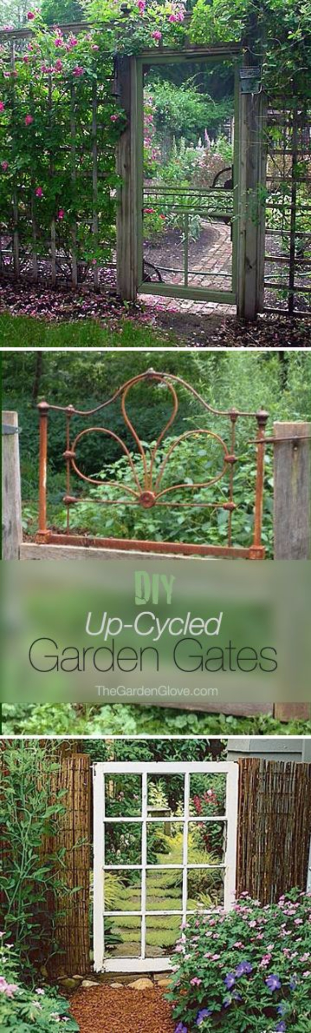 DIY Fences and Gates - DIY Up-Cycled Garden Gates - How To Make Easy Fence and Gate Project for Backyard and Home - Step by Step Tutorial and Ideas for Painting, Updating and Making Fences and DIY Gate - Cool Outdoors and Yard Projects http://diyjoy.com/diy-fences-gates