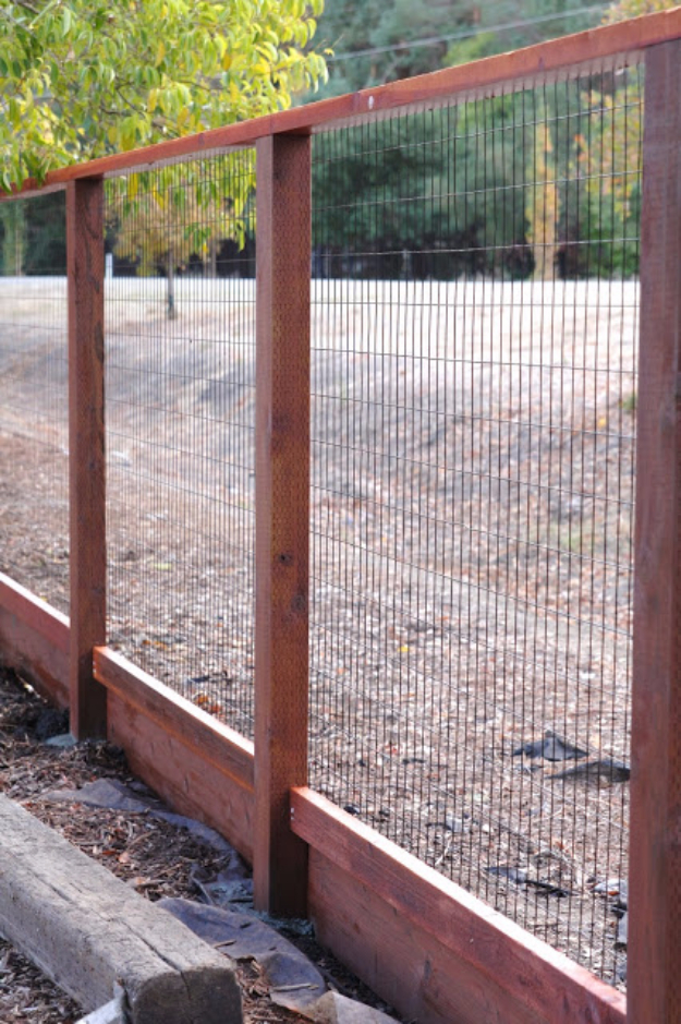 DIY Fences and Gates - Deer Fence - How To Make Easy Fence and Gate Project for Backyard and Home - Step by Step Tutorial and Ideas for Painting, Updating and Making Fences and DIY Gate - Cool Outdoors and Yard Projects