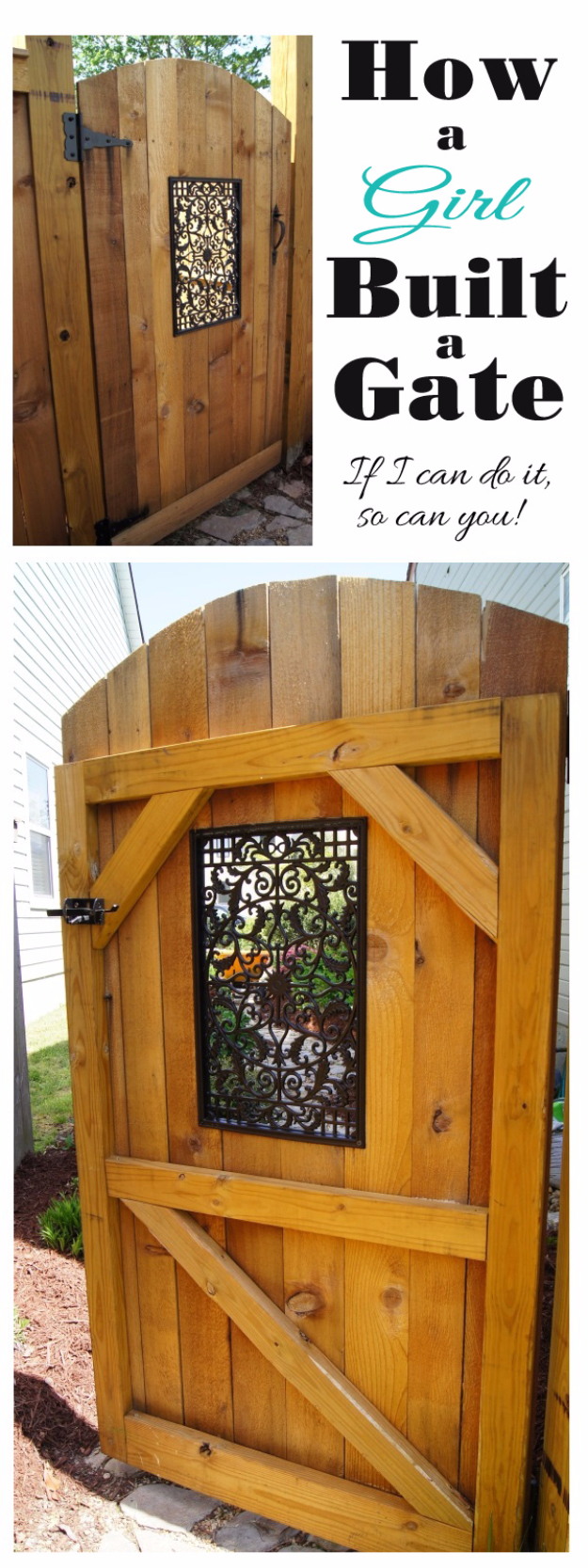 DIY Fences and Gates - Easy DIY Gate - How To Make Easy Fence and Gate Project for Backyard and Home - Step by Step Tutorial and Ideas for Painting, Updating and Making Fences and DIY Gate - Cool Outdoors and Yard Projects