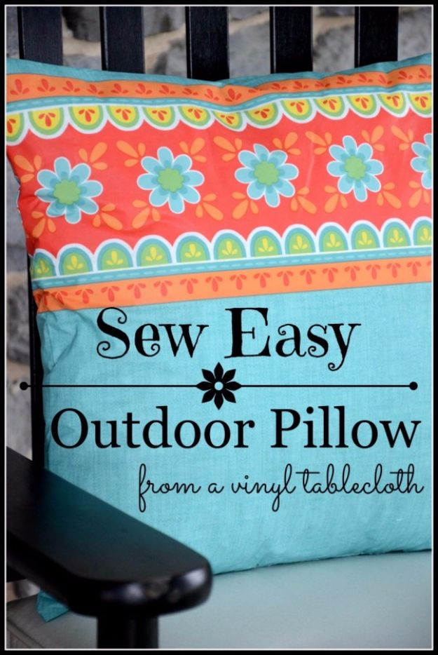 Sewing Projects for The Patio - Easy Outdoor Pillows - Step by Step Instructions and Free Patterns for Cushions, Pillows, Seating, Sofa and Outdoor Patio Decor - Easy Sewing Tutorials for Beginners - Creative and Cheap Outdoor Ideas for Those Who Love to Sew - DIY Projects and Crafts by DIY JOY #diydecor #diyhomedecor #sewing