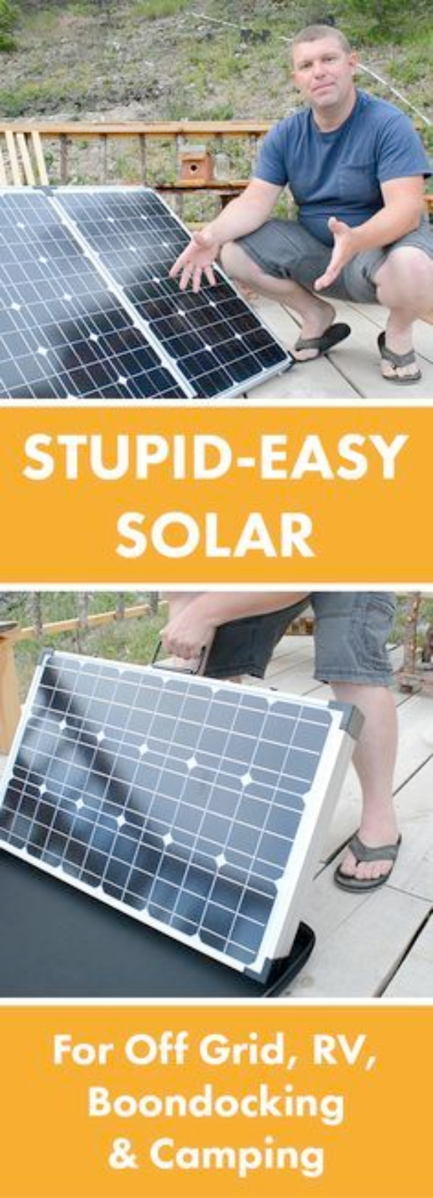 DIY Solar Powered Projects - Easy Portable Solar Panels - Easy Solar Crafts and DYI Ideas for Making Solar Power Things You Can Use To Save Energy - Step by Step Tutorials for Making Things Without Batteries - DIY Projects and Crafts for Men and Women
