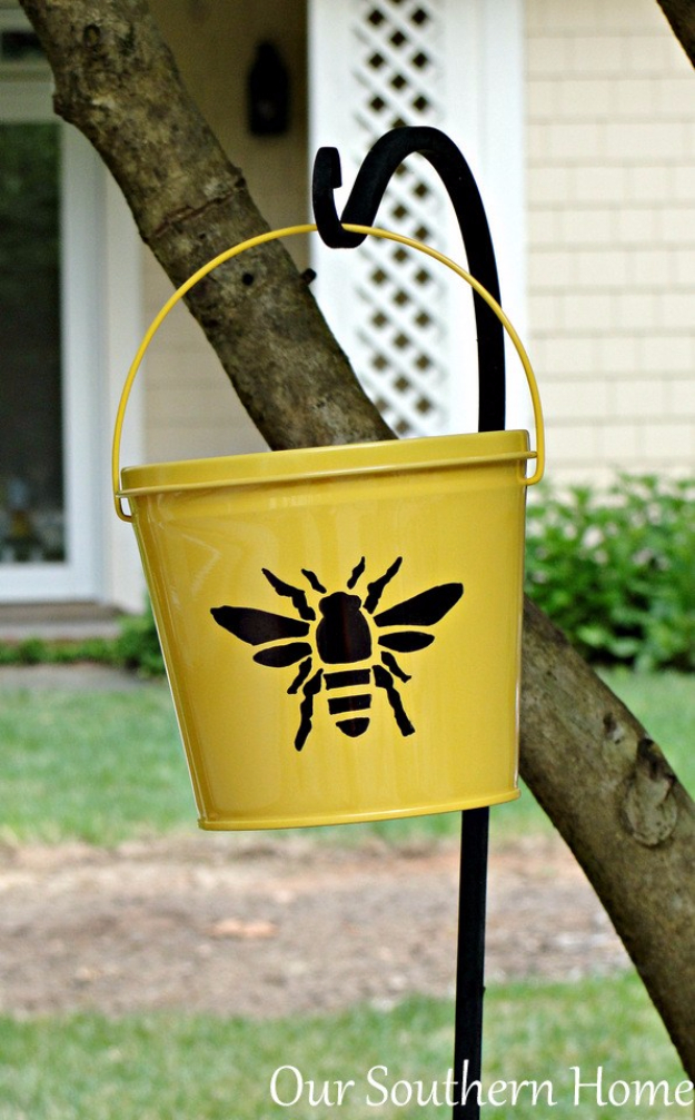 DIY Sharpie Crafts - Easy Sharpie Embellished Citronella Buckets - Cool and Easy Craft Projects and DIY Ideas Using Sharpies - Use Markers To Decorate and Design Home Decor, Cool Homemade Gifts, T-Shirts, Shoes and Wall Art. Creative Project Tutorials for Teens, Kids and Adults http://diyjoy.com/diy-sharpie-crafts