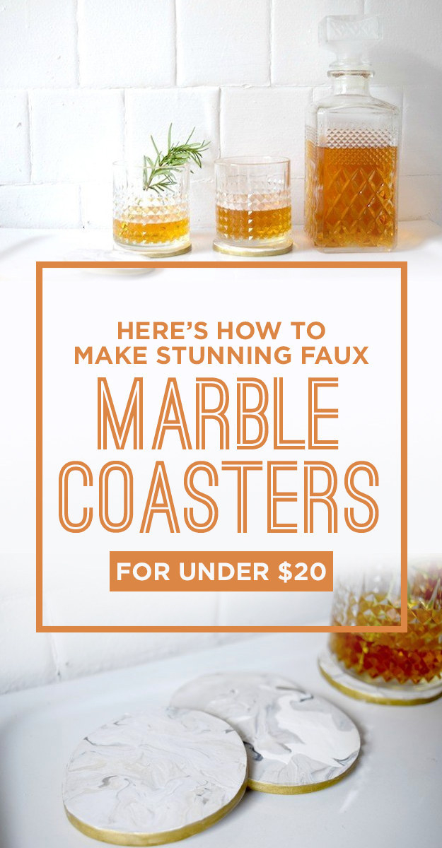 DIY Faux Marble Ideas - Faux Marble Coasters - Easy Crafts and DIY Projects With Faux Marbling Tutorials - Paint and Decorate Home Decor, Creative DIY Gifts and Office Accessories