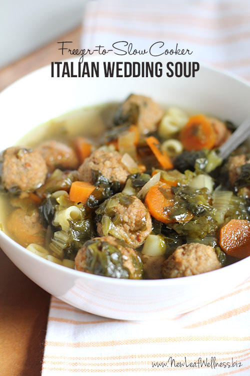 Healthy Crockpot Recipes to Make and Freeze Ahead - Freezer To Slow Cooker Italian Wedding Soup - Easy and Quick Dinners, Soups, Sides You Make Put In The Freezer for Simple Last Minute Cooking - Low Fat Chicken, beef stew recipe
