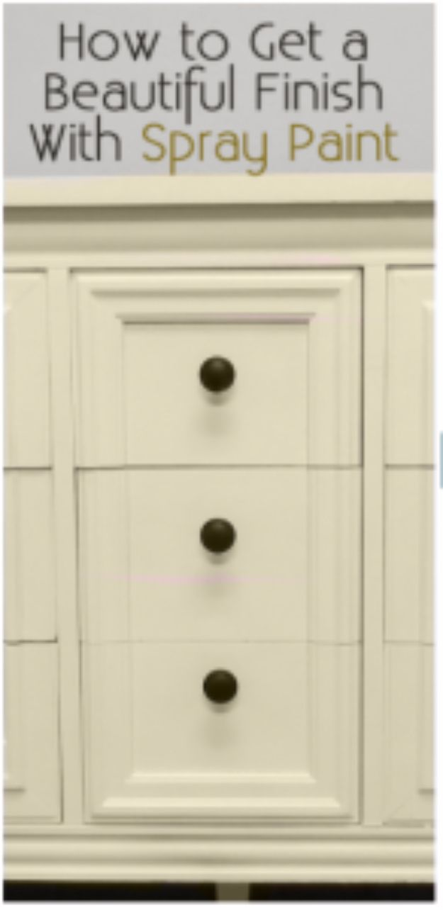 Spray Painting Tips and Tricks - Get A Beautiful Finish With Spray Paint - Home Improvement Ideas and Tutorials for Spray Painting Furniture, House, Doors, Trim, Windows and Walls - Step by Step Tutorials and Best How To Instructions - DIY Projects and Crafts by DIY JOY #diyideas