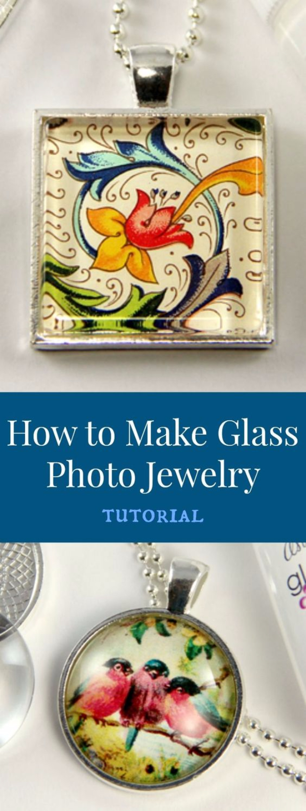 DIY Photo Crafts and Projects for Pictures - Glass Photo Jewelry - Handmade Picture Frame Ideas and Step by Step Tutorials for Making Cool DIY Gifts and Home Decor - Cheap and Easy Photo Frames, Creative Ways to Frame and Mount Photos on Canvas and Display Them In Your House http://diyjoy.com/handmade-photo-crafts