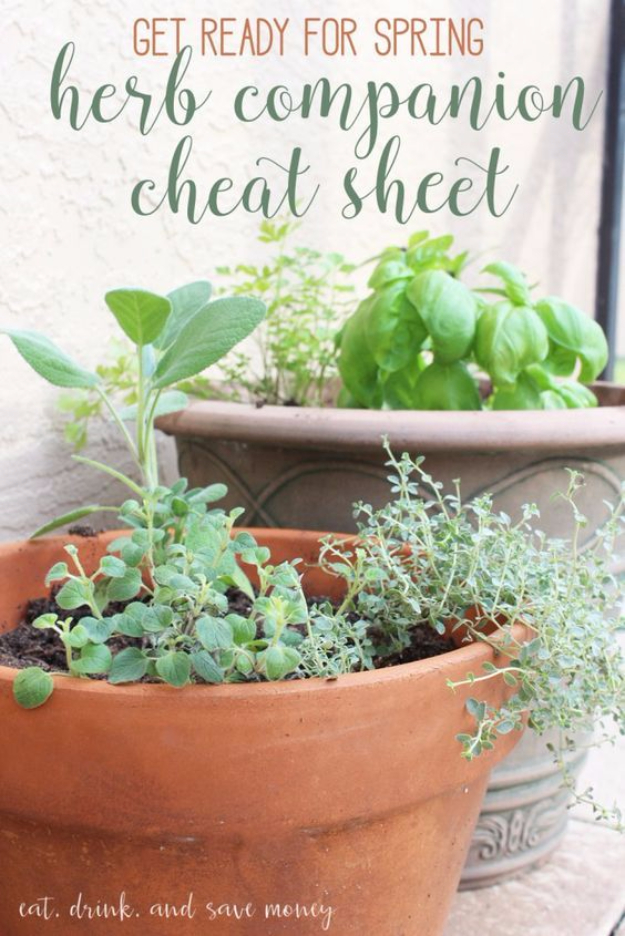 DIY Spring Gardening Projects - Herb Garden For Spring - Cool and Easy Planting Tips for Spring Garden - Step by Step Tutorials for Growing Seeds, Plants, Vegetables and Flowers in You Yard - DIY Project Ideas for Women and Men - Creative and Quick Backyard Ideas For Summer