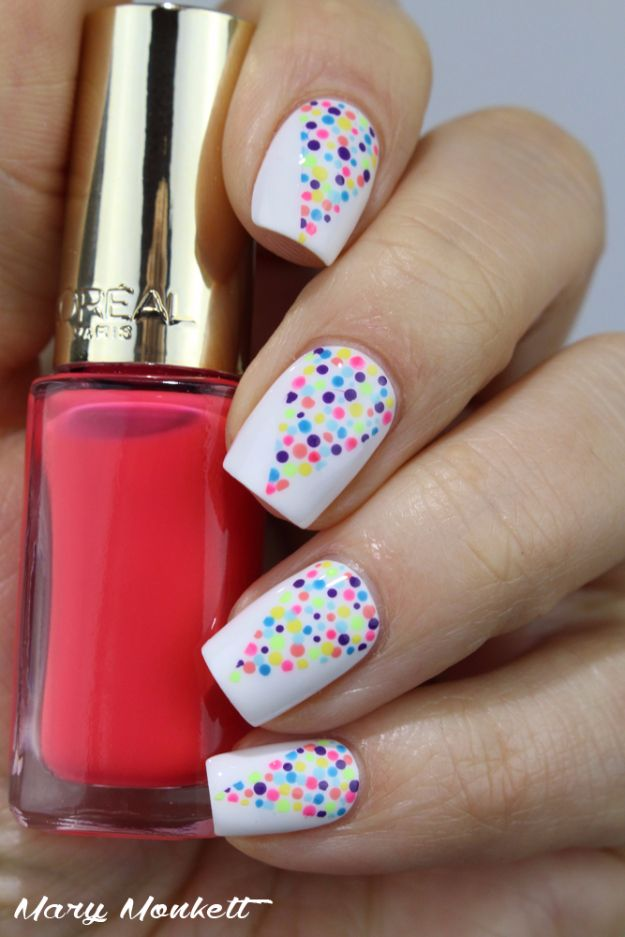 Quick Nail Art Ideas - Holi Nails - Easy Step by Step Nail Designs With Tutorials and Instructions - Simple Photos Show You How To Get A Perfect Manicure at Home - Cool Beauty Tips and Tricks for Women and Teens