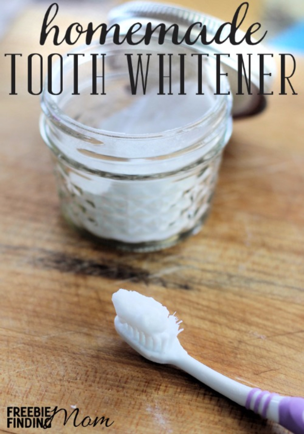 DIY Beauty Ideas and Recipes for Products You Can Make At Home - Homemade Tooth Whitener - Easy Tutorials and Recipe Ideas for Face, Skin, Hair, Makeup, Lips - 3 Ingredient, Coconut Oil, Cheap Knock Offs, Baking Soda and Natural Product - Cool Homemade Gifts for Teens and Women
