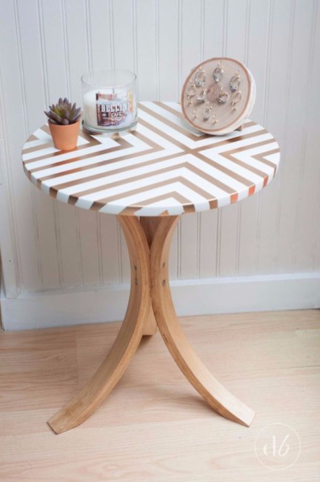 Spray Painting Tips and Tricks - IKEA Side Table Makeover With Spray Paint - Home Improvement Ideas and Tutorials for Spray Painting Furniture, House, Doors, Trim, Windows and Walls - Step by Step Tutorials and Best How To Instructions - DIY Projects and Crafts by DIY JOY #diyideas