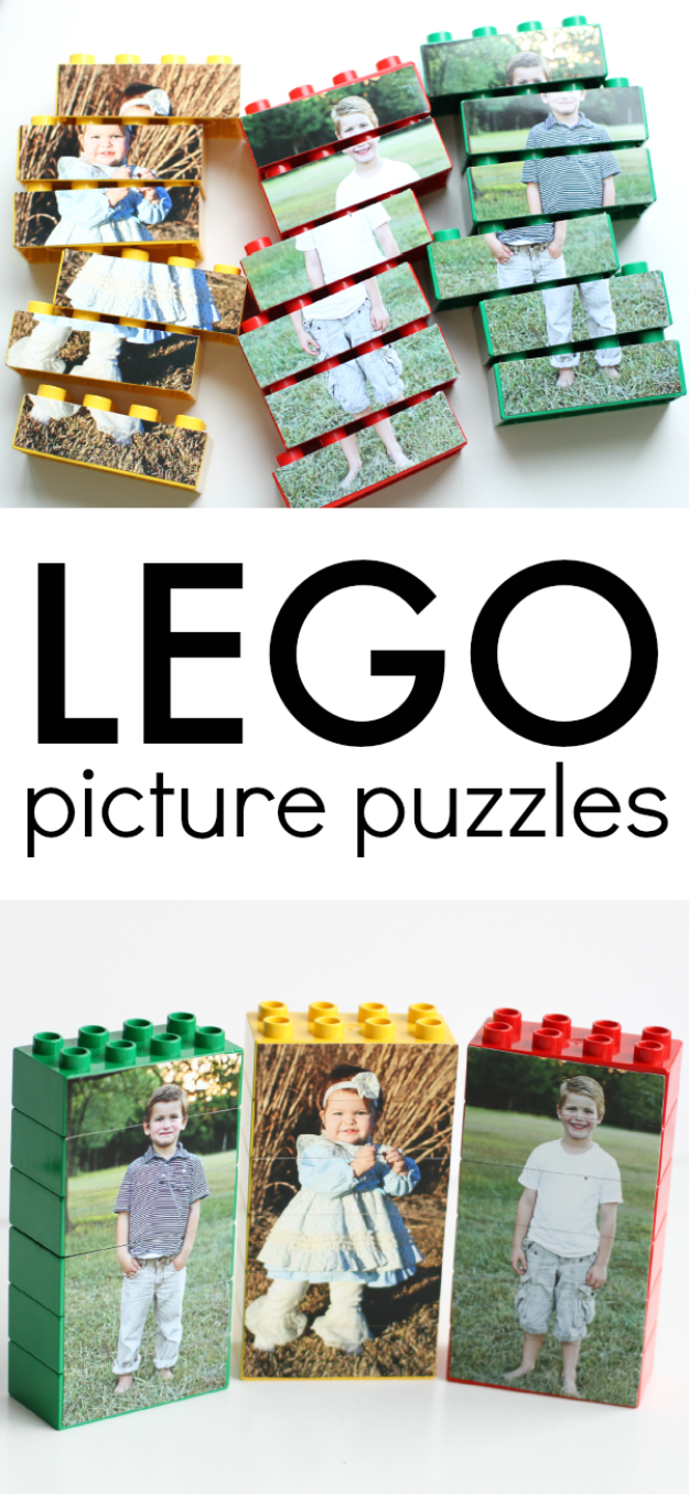 DIY Photo Crafts and Projects for Pictures - LEGO Picture Puzzles - Handmade Picture Frame Ideas and Step by Step Tutorials for Making Cool DIY Gifts and Home Decor - Cheap and Easy Photo Frames, Creative Ways to Frame and Mount Photos on Canvas and Display Them In Your House