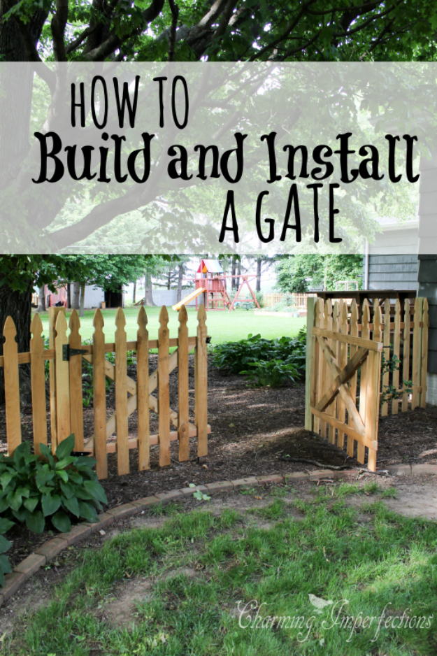 DIY Fences and Gates - Low Picket Fence - How To Make Easy Fence and Gate Project for Backyard and Home - Step by Step Tutorial and Ideas for Painting, Updating and Making Fences and DIY Gate - Cool Outdoors and Yard Projects