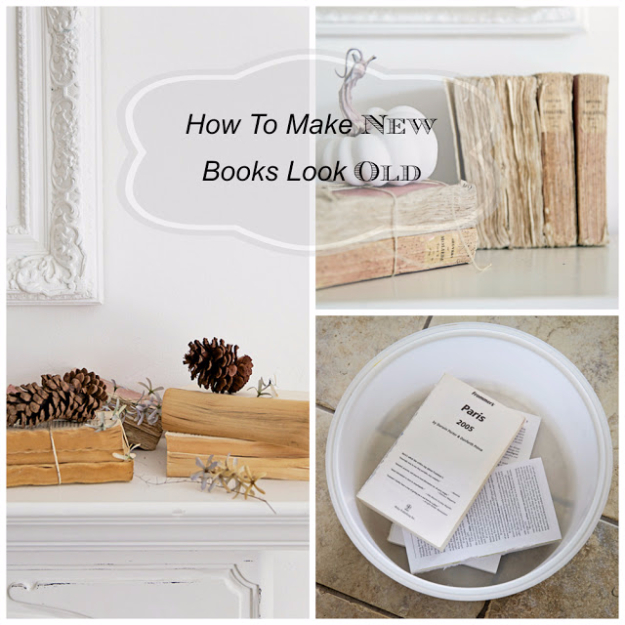 DIY Projects Made With Old Books - Make New Books Look Old - Make DIY Gifts, Crafts and Home Decor With Old Book Pages and Hardcover and Paperbacks - Easy Shelving, Decorations, Wall Art and Centerpices with BOOKS http://diyjoy.com/diy-projects-old-books