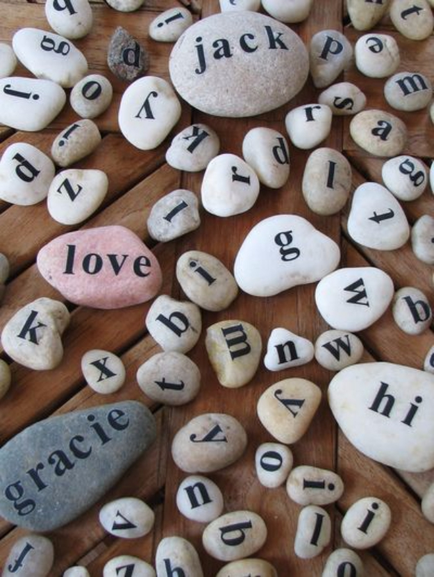 Pebble and Stone Crafts - Message Rocks - DIY Ideas Using Rocks, Stones and Pebble Art - Mosaics, Craft Projects, Home Decor, Furniture and DIY Gifts You Can Make On A Budget #crafts
