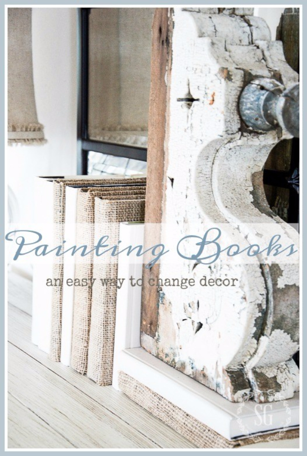 DIY Projects Made With Old Books - Painting Books DIY - Make DIY Gifts, Crafts and Home Decor With Old Book Pages and Hardcover and Paperbacks - Easy Shelving, Decorations, Wall Art and Centerpices with BOOKS http://diyjoy.com/diy-projects-old-books