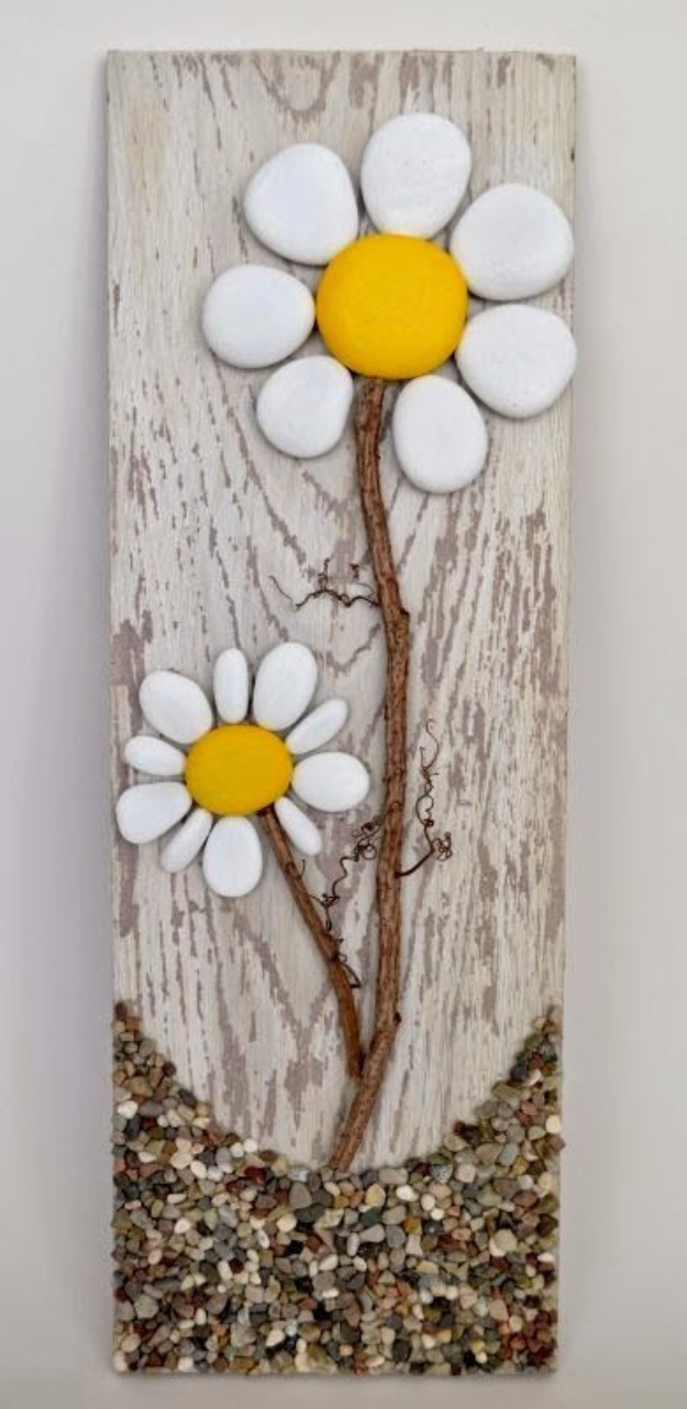 Pebble and Stone Crafts - Pallet And Pebble Art - DIY Ideas Using Rocks, Stones and Pebble Art - Mosaics, Craft Projects, Home Decor, Furniture and DIY Gifts You Can Make On A Budget #crafts