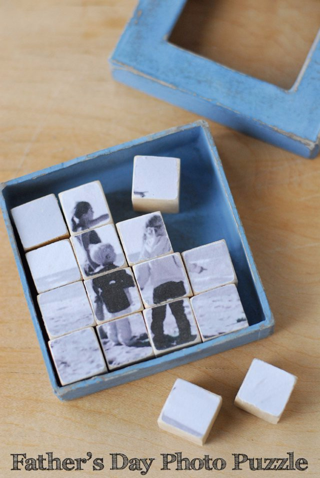 DIY Photo Crafts and Projects for Pictures - Photo Puzzle Gift - Handmade Picture Frame Ideas and Step by Step Tutorials for Making Cool DIY Gifts and Home Decor - Cheap and Easy Photo Frames, Creative Ways to Frame and Mount Photos on Canvas and Display Them In Your House http://diyjoy.com/handmade-photo-crafts